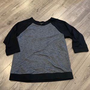 Theory Baseball Style 3/4 Sleeve Shirt Size M